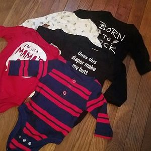 Long sleeve infant onsies